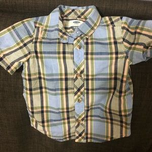 Plaid old navy button down